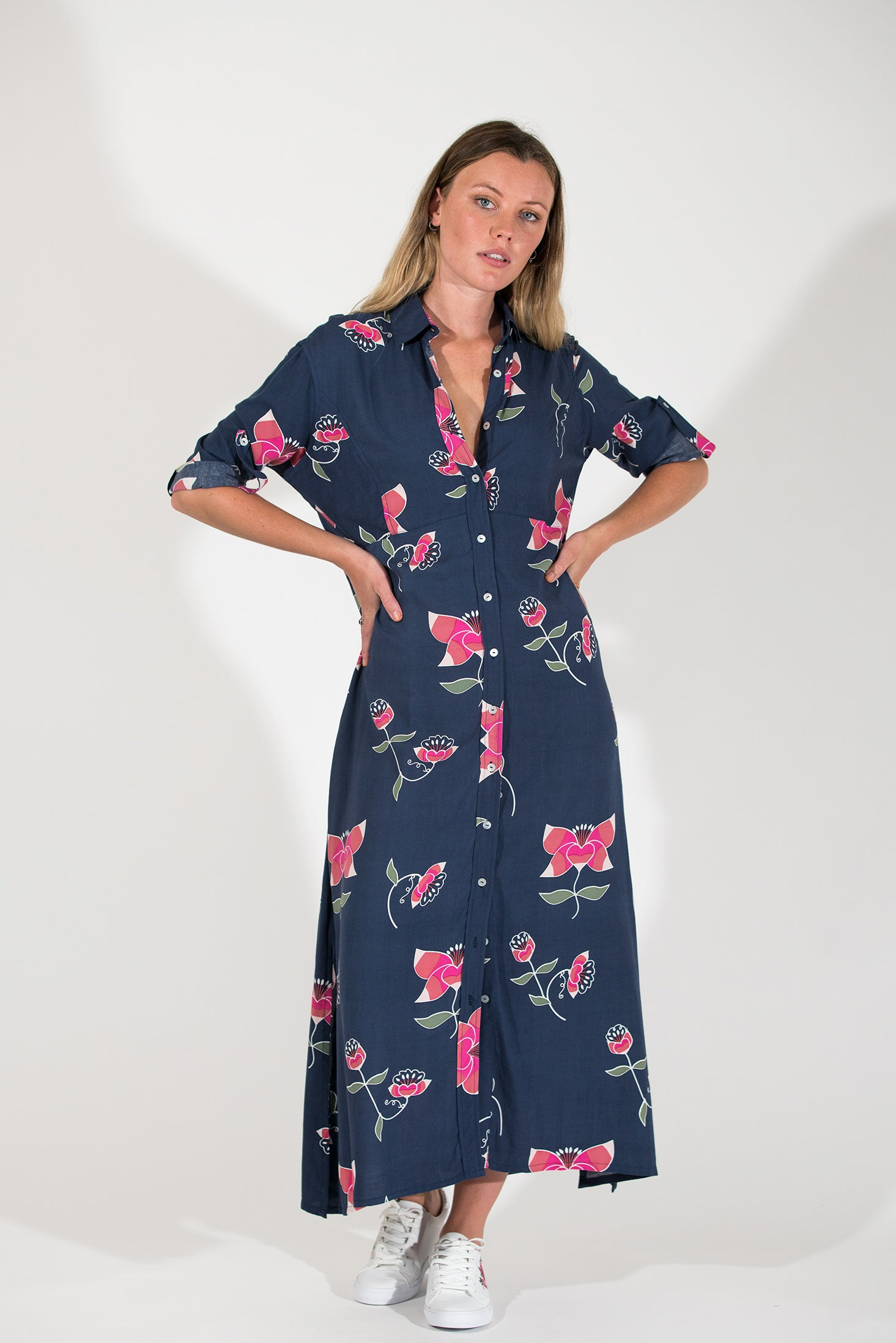 Evergreen Dress - Pink Lotus
