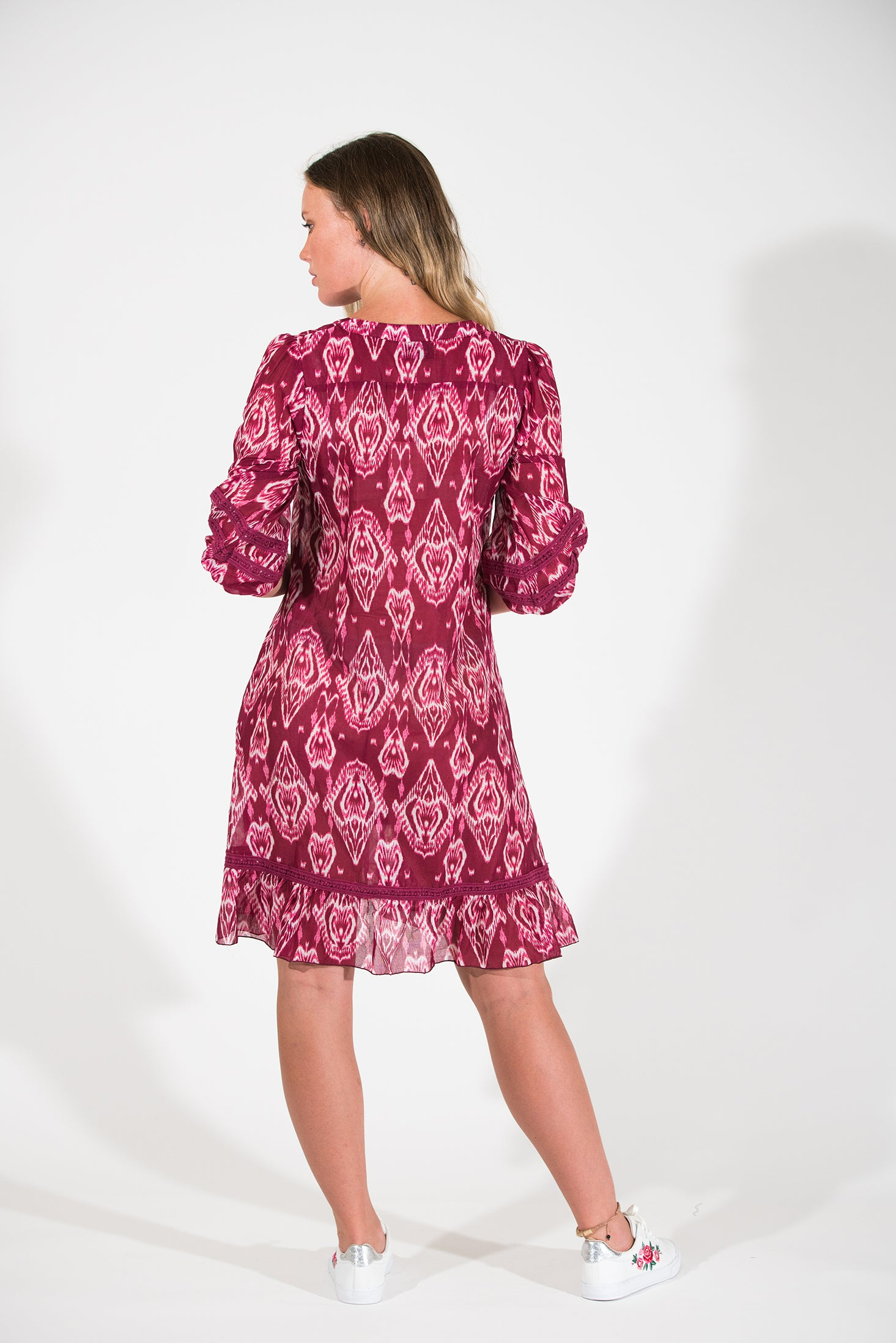 Cherry Dress - Pink Ikat