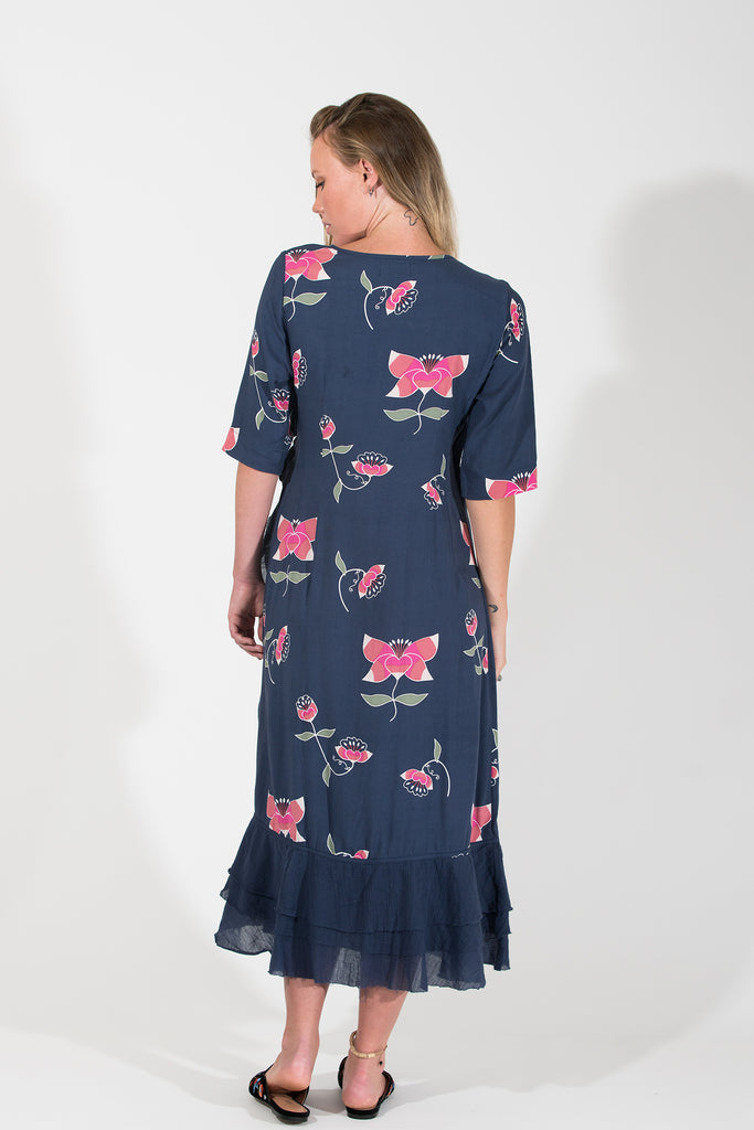 Bonny Wrap Dress - Pink Lotus