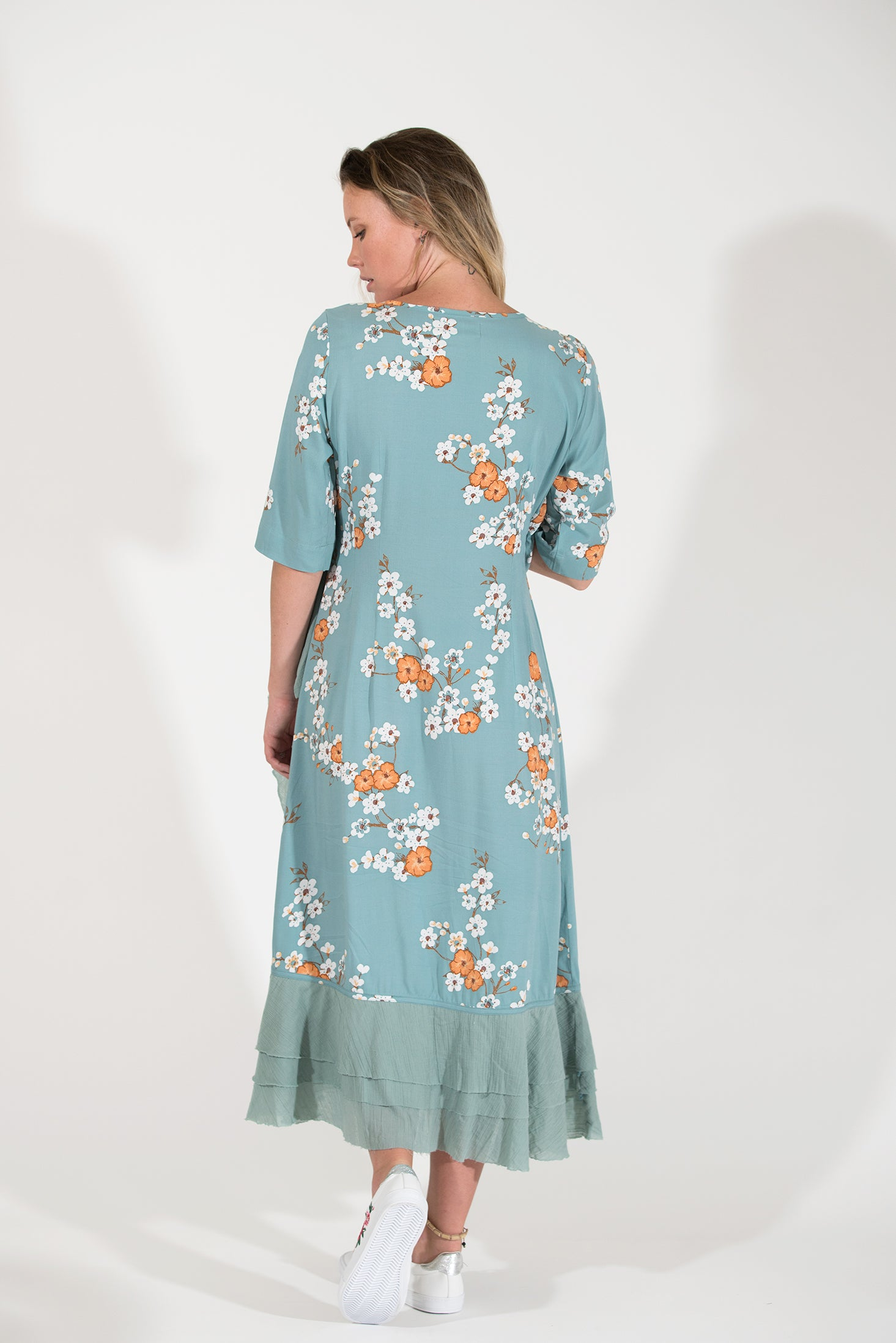 Petunia Dress - Orange Cosmos