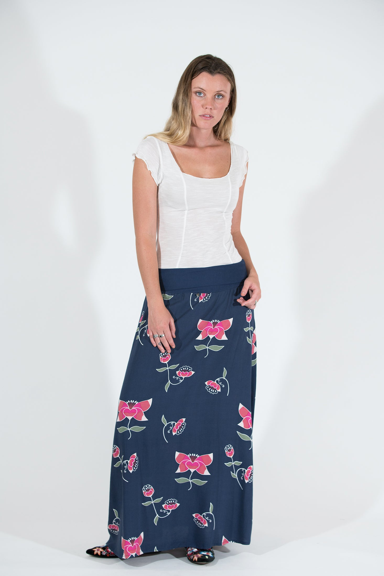 Poppy Skirt - Pink Lotus