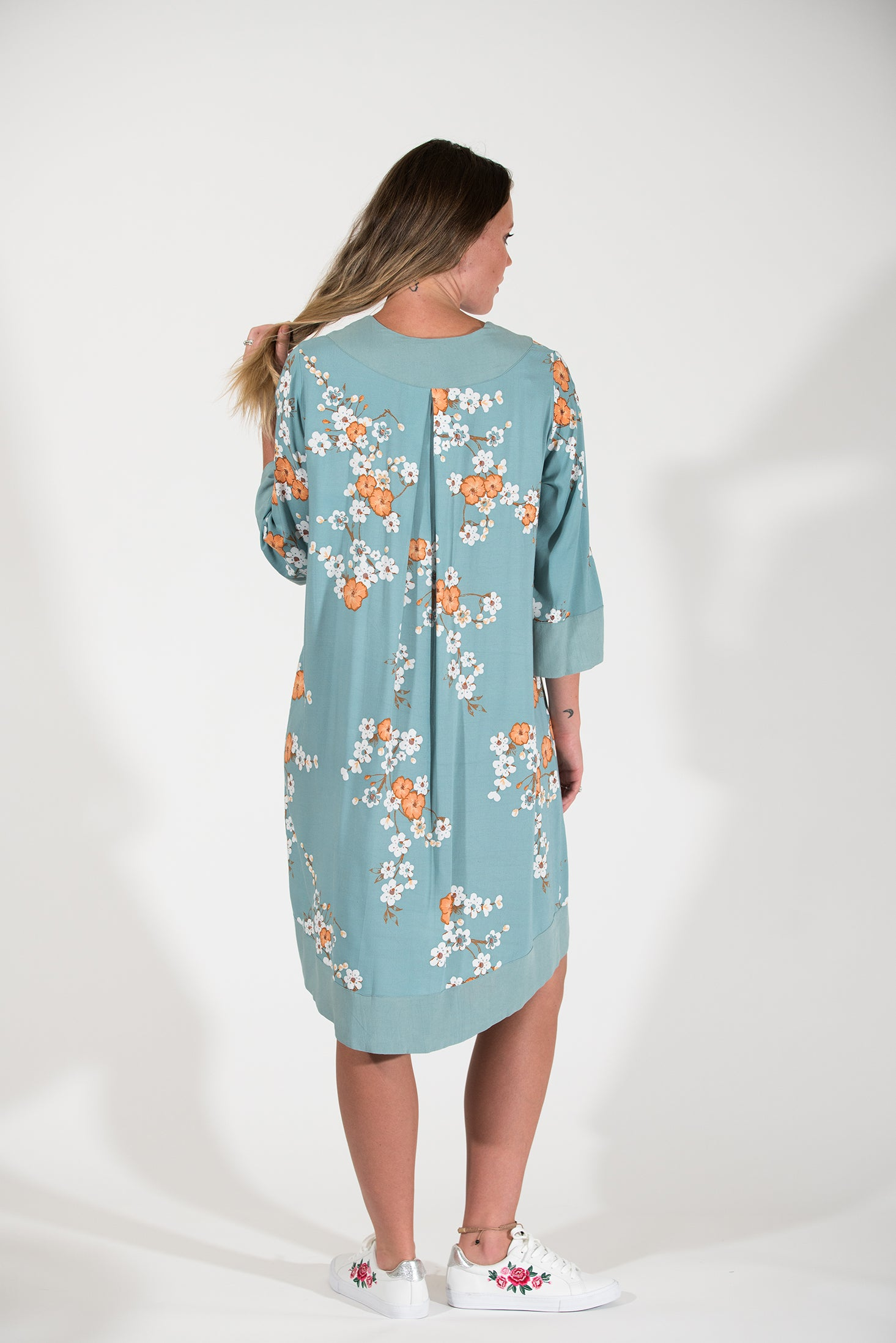 Posy Dress - Orange Cosmos