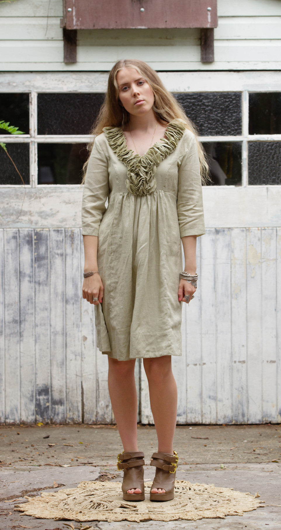 Wuthering Heights Dress - Sand