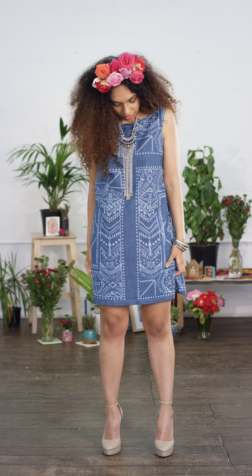 Freedom Dress - Tribal Denim