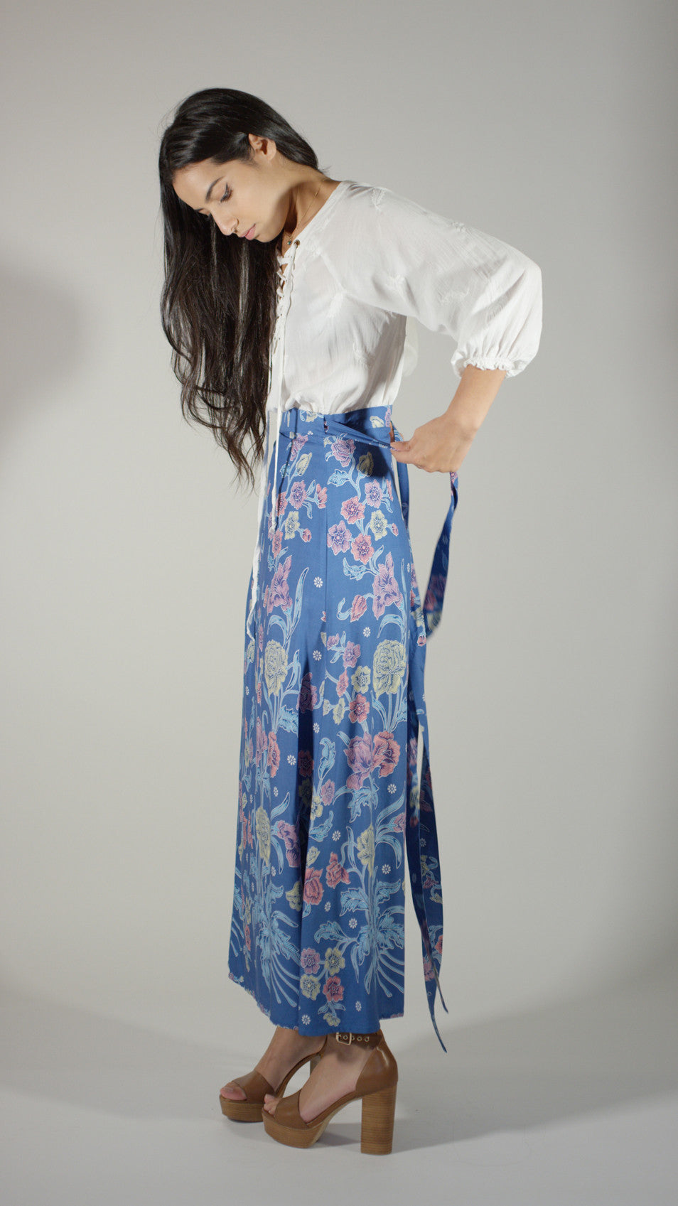 Anniversary Wrap Skirt - Blue