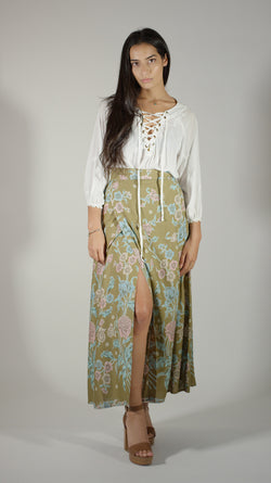 Anniversary Wrap Skirt - Brown