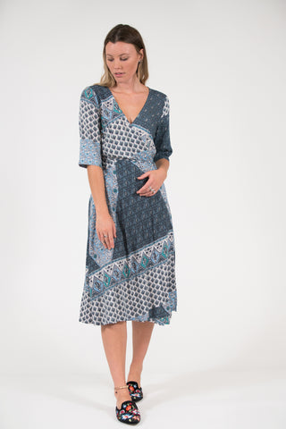 Isabella Dress - Oriental Blue