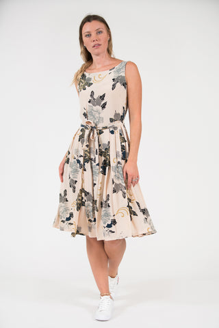 Isabella Dress - Green Paisley Floral