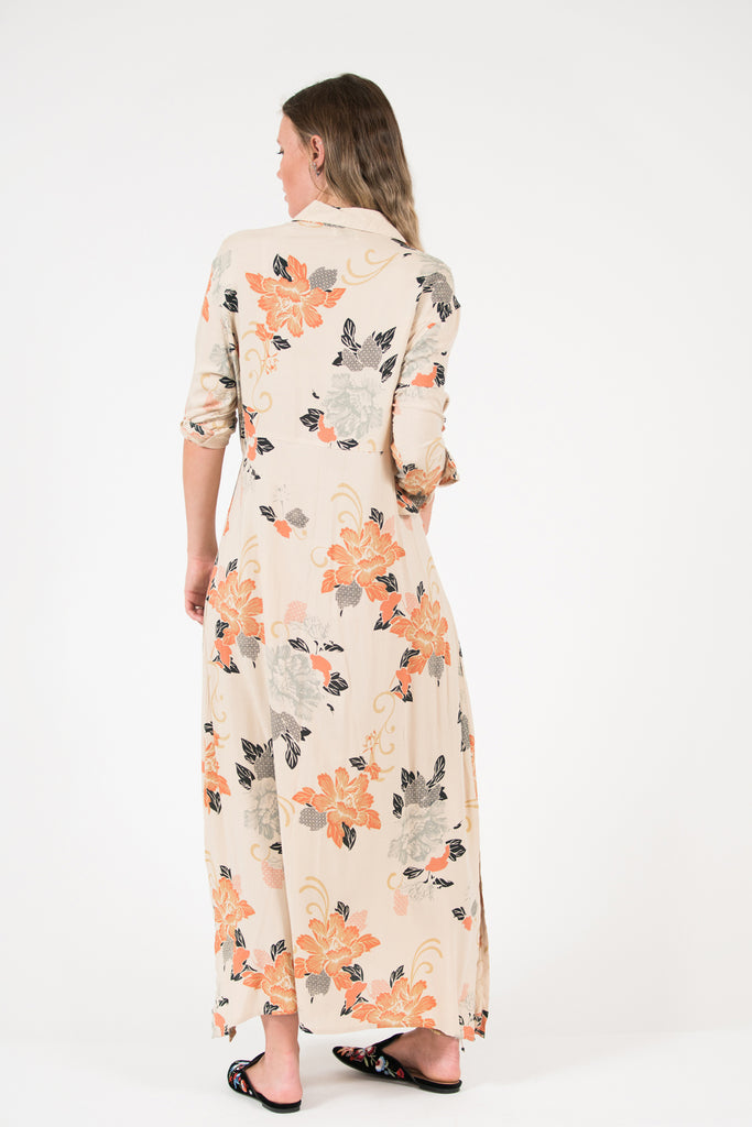 George Dress - Rust Oriental print