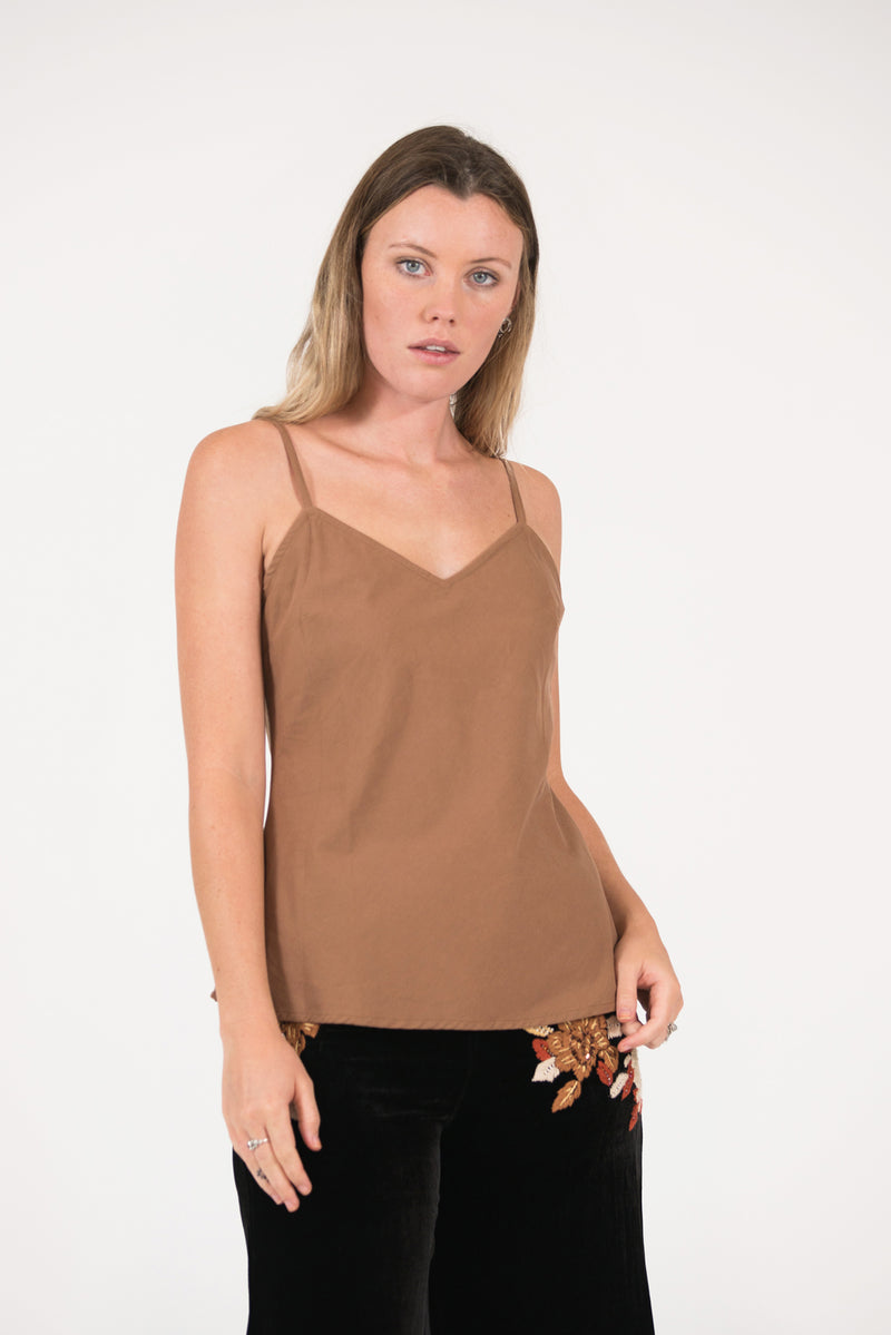 Sheer 100% silk Thelma shirt with contrast hand embroidery