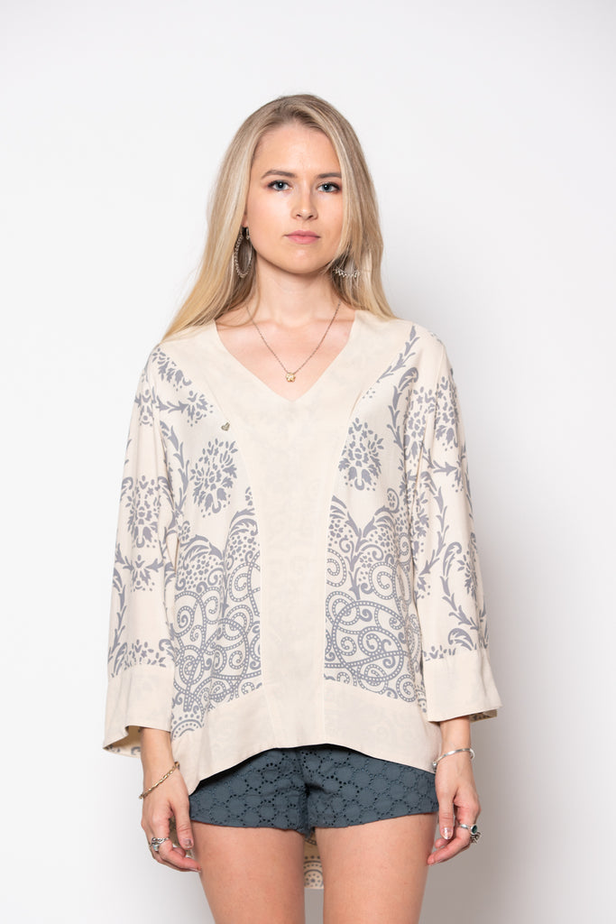 Bridget Top - Filagree Sand
