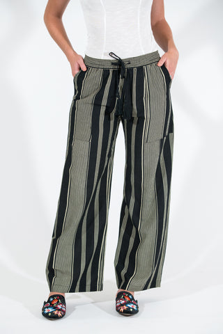 McClelland Pant - Navy/Rust Stripe