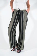 Willow Pant - Black/Bone Stripe