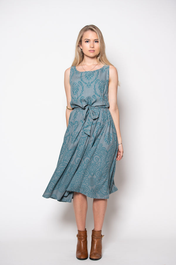 Isabella Dress - Filagree Ocean