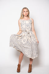 Isabella Dress - Filagree Sand