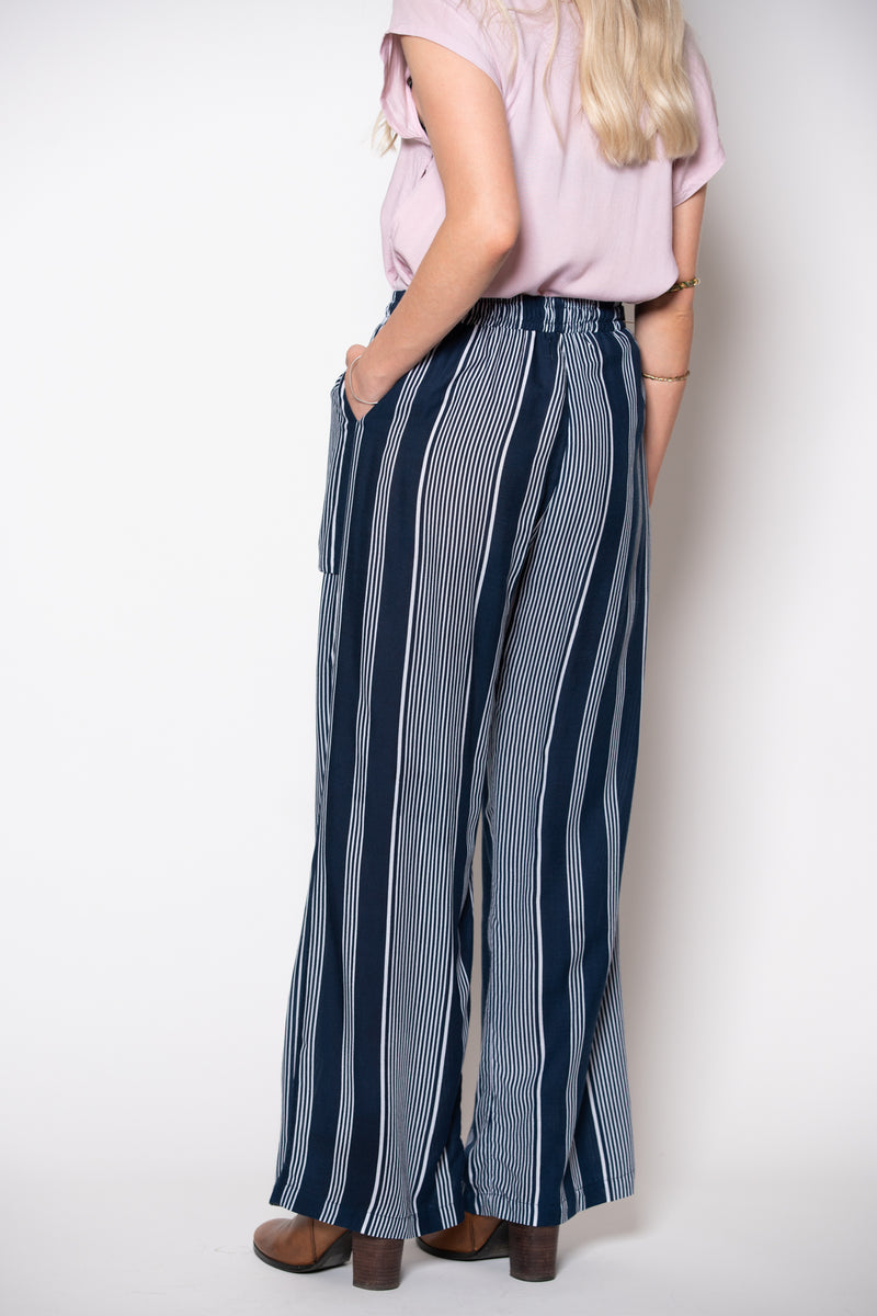 Willow Pant - Navy Stripe