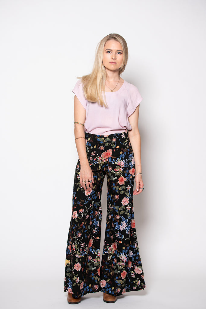 Dervish Pant - Black Desert Rose