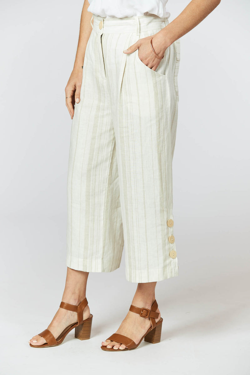 Harmony Pants - Sand Stripe