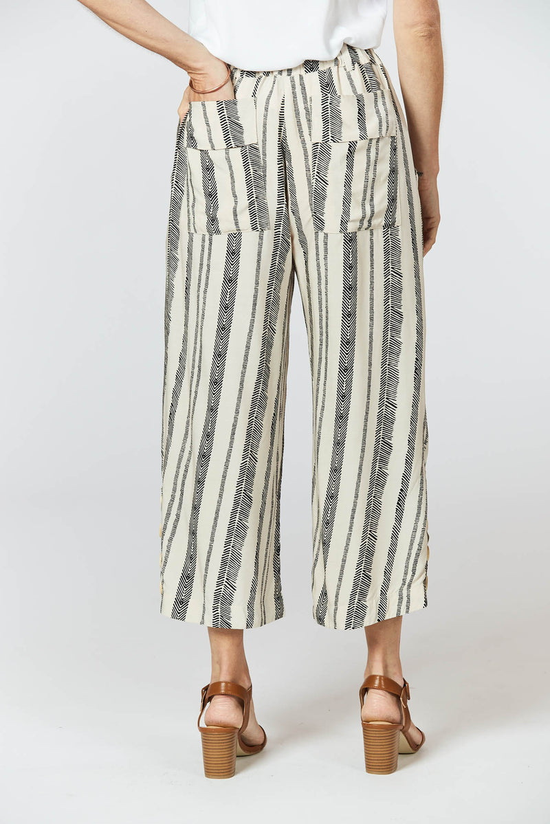 Harmony Pants - Seashell Feather Print