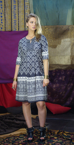 Querido Dress - Grey Heart