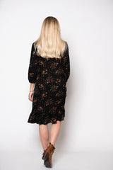 Sunny Hollow Dress - Midnight Print