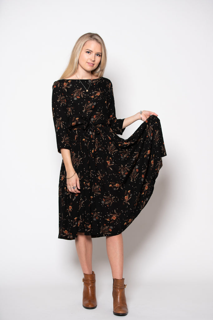 Stormy Weather Dress - Midnight Print