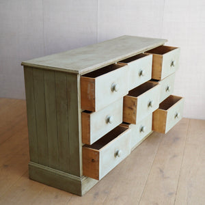Painted Bank of Drawers