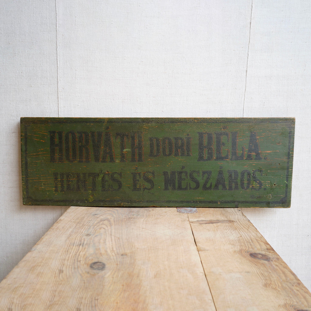 Hungarian Butchers Sign