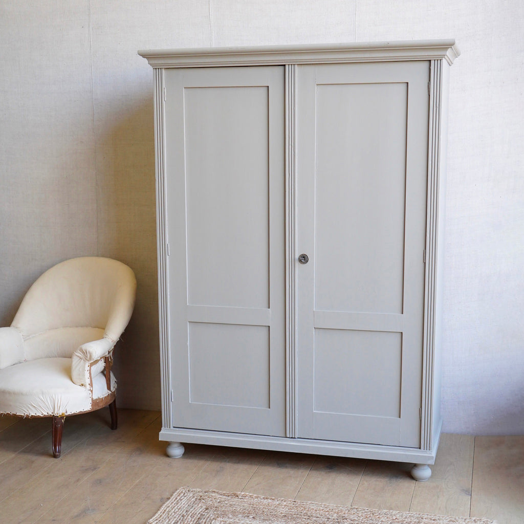 Grey Panelled Cupboard