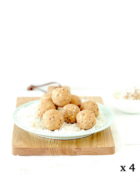 Pack of 4 | Vanilla + Coconut Protein Ball Mix