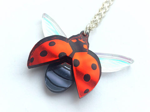 Ladybird pendant or brooch