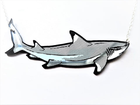 Black Tipped Reef Shark Necklace