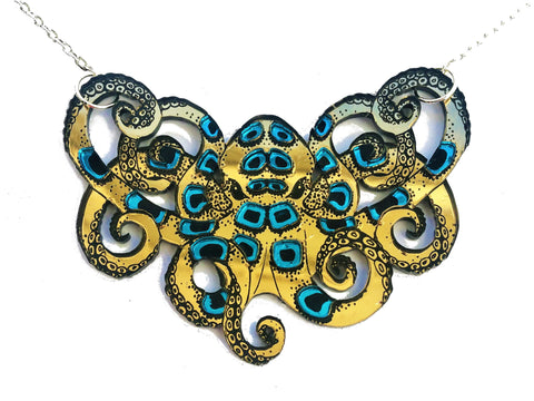 Blue-Ringed Octopus Necklace