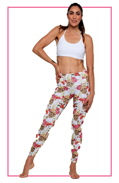 White Skull Legging