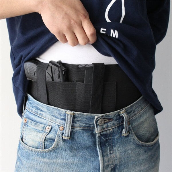Neoprene Belly Band Holster Concealed Carry Magazine Pocket Pouch