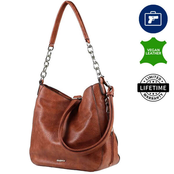 Ashley Concealed Carry Hobo Purse Cinnamon
