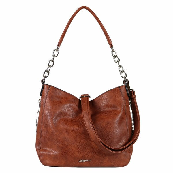 Ashley Concealed Carry Hobo Purse Mahogany