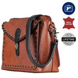 Evelyn Concealed Carry Crossbody Bag - Full Grain Leather