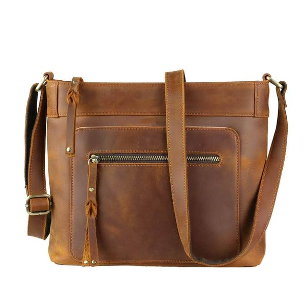 Delaney CCW Leather Crossbody brown