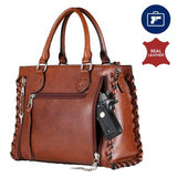 Concealed Carry Leather Satchel