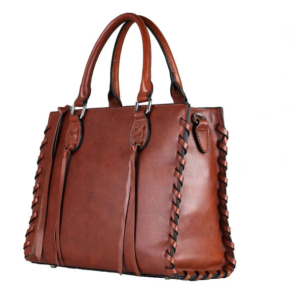 Emma Concealed Carry Leather Satchel