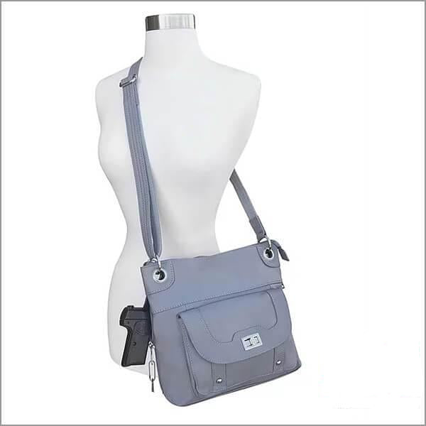 Leather Concealment Crossbody Bag model