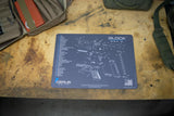 GLOCK GEN 3 1 2 GUN CLEANING BENCH MAT GREY BLUE
