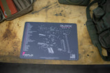 GLOCK GEN 4 GUN CLEANING BENCH MAT GREY PINK