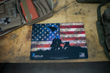 Iwo Jima GUN CLEANING MAT MARINES FLAG USA