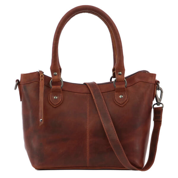 Sadie Concealed Carry Leather Satchel mohagany