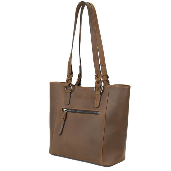 Maddie Full-Grain Leather Tote
