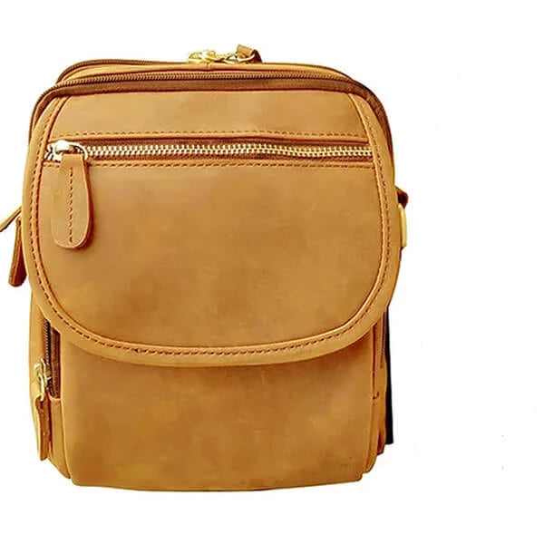Wax & Oiled Leather Concealment Crossbody Bag