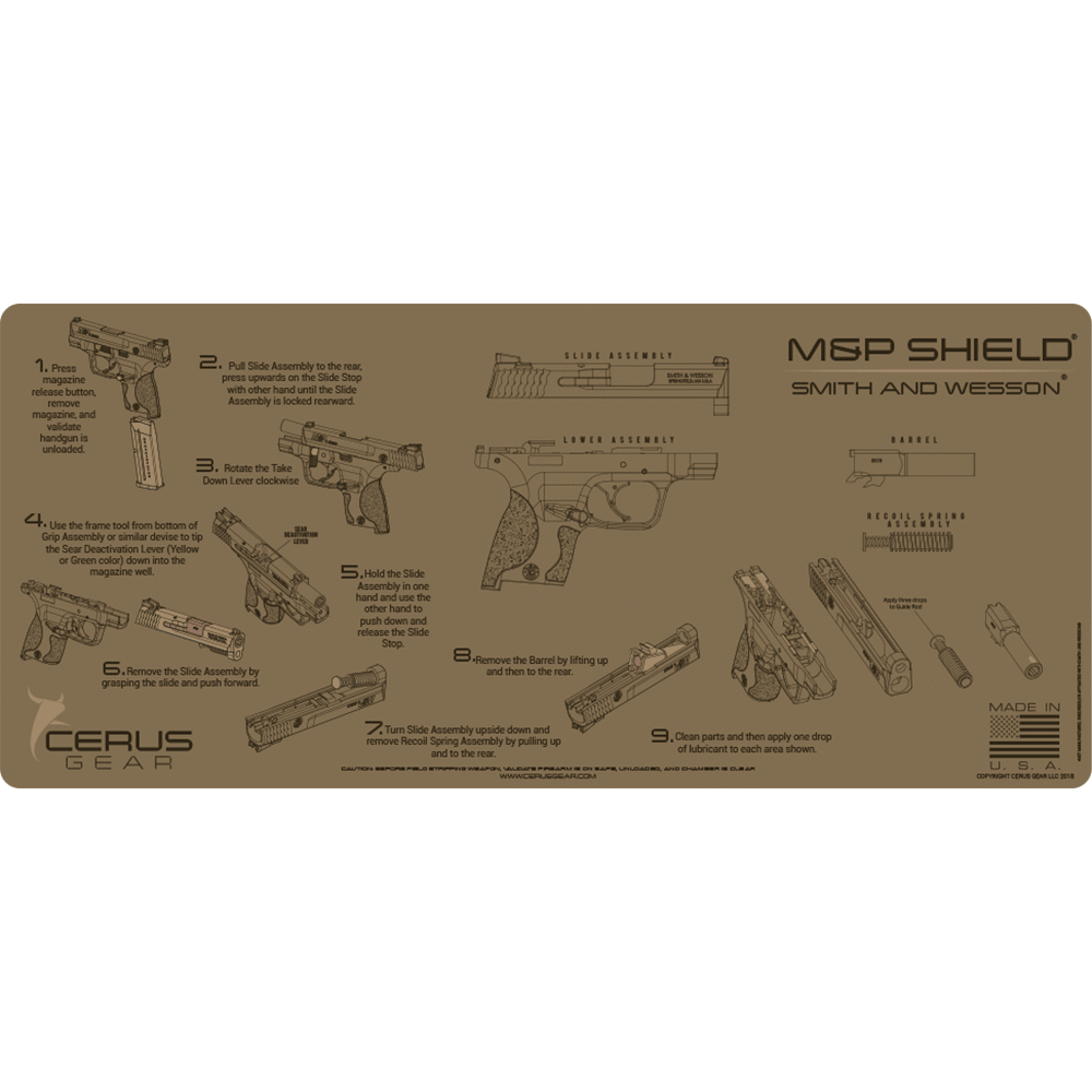 MAINTENANCE INSTRUCTIONS M&P SHIELD