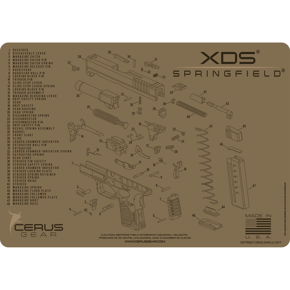 TOP SPRINGFIELD XDS CLEANING MAT